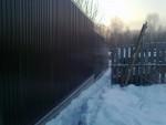 Забор металлопрофиль 4