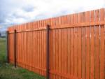 Забор деревянный, строганные доски