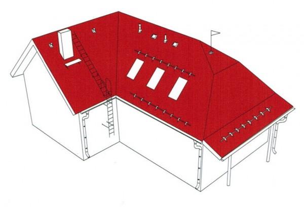 Схема монтажа металлочерепицы.